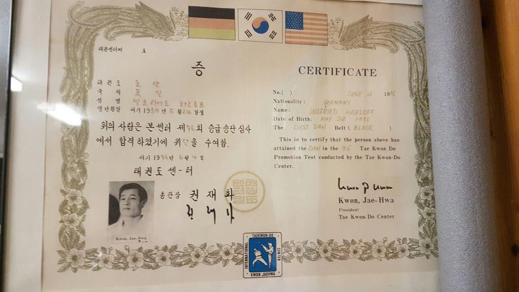 Taekwondo Ansbach Dan Zertifikat - Taekwondo Ansbach Budo-Club ...